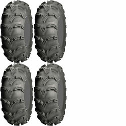 Four 4 ITP Mud Lite XL ATV Tires Set 2 Front 25x8-12 & 2 Rear 25x10-12 MudLite