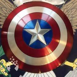 Rare Item Very Cool Metal Made Captain America Shield From Japan Free Shipping