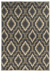 Black Transitional Synthetics Ikat Patterned Lines Area Rug Geometric 5501d