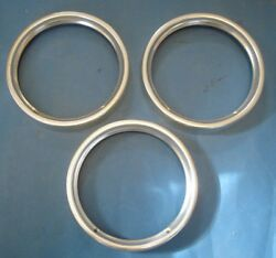 1964 Chevrolet Headlight Bezels Or Rims Total Of 3 Nice Used With No Dings Dents