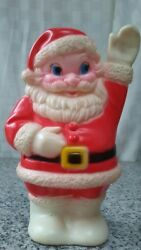 Vintage 8 Inch Sanitoy Rubber Santa Clause Made In The Usa