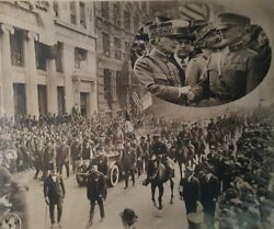 Antique By Nyc Ticker-tape Parade General Pershing 1919 Police Badge Plate Photo