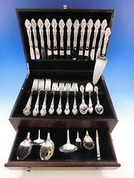 Spanish Baroque By Reed And Barton Sterling Silver Flatware Set Service 56 Pieces