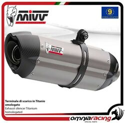 MIVV SUONO exhaust slip-on homologated titanium for BMW R1200GS 2008