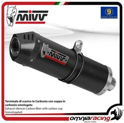 MIVV OVAL exhaust slip-on homologated carbon for BMW R1200GS 2008