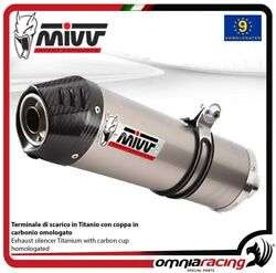 MIVV OVAL exhaust slip-on homologated titanium for BMW R1200GS 2008