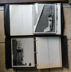 Sun Oil Set Of 2 Large Books Of B/w Lease Photos - Mcmurray Waterways Athabasca
