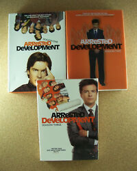 Arrested Development Season One Two And Three Boxed Dvd Good Condition Free Ship