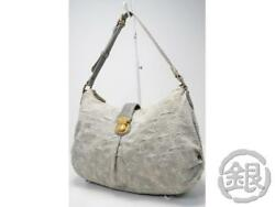 AUTH PRE-OWNED LOUIS VUITTON MONOGRAM DENIM GRIS SLIGHTLY HOBO BAG M95834 172817
