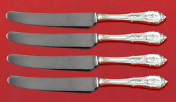 Rose Point By Wallace Sterling Silver Fruit Knife Set 4-piece Custom 7 Hh Ws