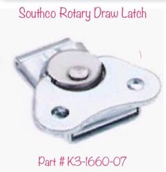 Southco K3-1660-07 Rotary Draw Latch 50 Pcs With Keepers K3-0334-07 50 Pcs