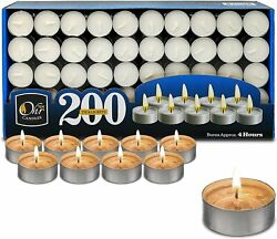 Tea Light Candles Bulk Pack White Unscented 4 hours burn time