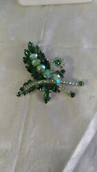 Vintage Weiss Unsigned Brooch 1920-1940s