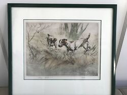 Henry Wilkinson Antique Original Jack Russell Terriers Framed Print