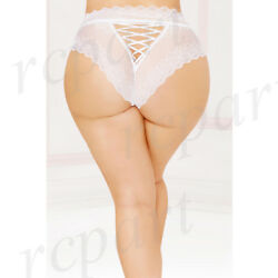 New Sexy women intimates gift lingerie high waist panty 1X2X 3X4X White 10877X