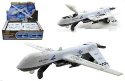 12 Pack Us Air Force Unmanned Drone 1100 Diecast 8 Inch Nsa Lights And Sounds
