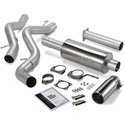 06-07 Gm 6.6l Duramax Banks Single Monster Exhaust System Ccsb/cat Converter.