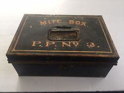 Antique Metal Church 'poor' Coin Collection Mite Box / P.p. No. 3 Pope Paul
