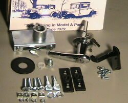 1928 1929 1930 1931 Model A Ford Deluxe Trunk Lid Handle And Hinge Set.