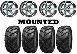 Kit 4 Interco Reptile Tires 26x10-14/26x12-14 On Itp Ss212 Machined Wheels Pol