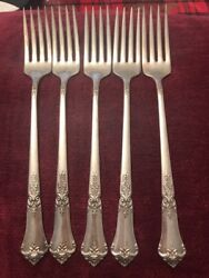 """Lot Of 5 State House Stately Sterling Silver Dinner Forks 7 1/8"""""""
