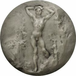 [551854] France Medal Samf Adolescents 1909 Dejean Ms60-62 Silver