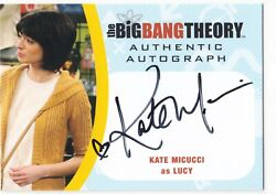 2016 Cryptozoic Big Bang Theory Autograph Auto Km2 Kate Micucci As Lucy