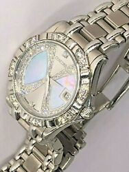 18 K W Gold Concord  Saratoga Mother of Pearl Diamond Watch
