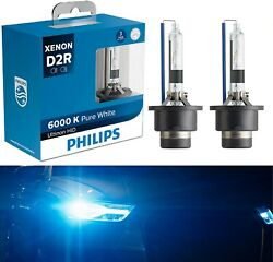 Philips HID Xenon Ultinon D2R White 6000K Two Bulbs Head Light Replace Low Beam