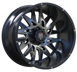 24x14 American Truxx Dna Glossy Black Machined Milled At184 Wheel - 8x180 -76