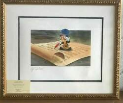 Disney Pinokio Jiminy Cricket By Gil Dicicco Limited To 300 Prints Worlwide F/s