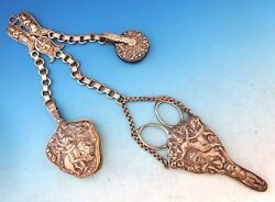 Sterling Silver India Chatelaine With Lion, Peacock, And Bull J3887