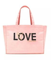 Victoria Secret Limited Edition Sequin Pink Love Tote School Hand Bag NEW $23.99