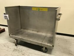 Stainless Steel 3-sided Stock Cart 60wide X 28deep X 38h