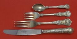 Queens By Wallace Sterling Silver Dinner Size Place Settings 4pc