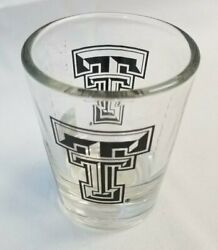 Texas Tech Red Raiders Ncaa 2 Oz. Shot Glass Clear And Black Free Shipping