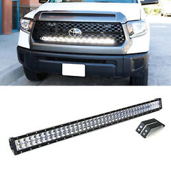 240w 40 Led Light Bar W/behind Grille Mounts And Wiring For 2014-up Toyota Tundra
