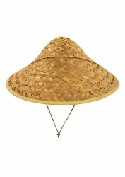 Asian Japanese/chinese Coolie Straw Hat Adult Novelty Fancy Dress Accessory