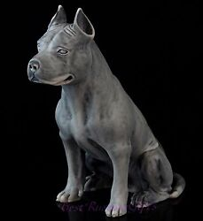 Staffordshire Pit Bull Terrier Marble Figurine Stone Dog Russian Art Sculpture
