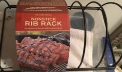 Williams Sonoma Stainless Steel Bbq Grill Rib Rack New
