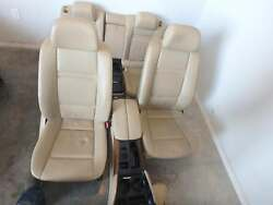 2008-2014 Bmw X6 Tan Leather Front And Rear Seats W/console Power Driver Passegner