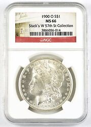 Ngc Graded Ms66 1900-o 1 Us Morgan Silver Dollar - Stackand039s W 57th St Collection