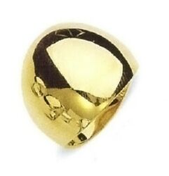 Dome Ring 19mm Wide Tapered Ring In 14k Yellow Gold Cigar Band Ring Sr17069