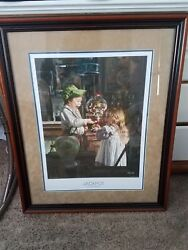 Bob Byerley 2008 Signed Jackpot Print. Signature Lower Right, Framed And Matted.