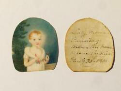1810 Lady Maria Canning And Sir Robert Liston Portrait Miniatures Lot Cc9