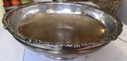 Antique Sterling Silver S. Kirk And Son Centerpiece Fruit Bowl Repousse 3612