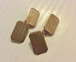 Lovely Quality Gents Stamped Early Vintage 9CT Gold Cufflinks Nice 9 Carat