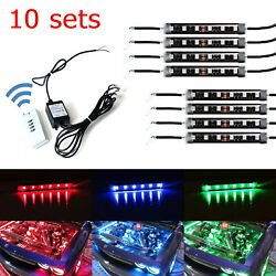Bundle 10 Sets RGB Multi-Color LED Engine Bay or Under Car Lighting Kit w/Remote