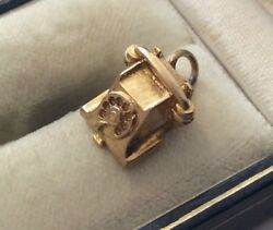 Superb Fully Hallmarked Vintage 9 Carat Gold Early Telephone Charm 9CT