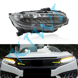 2PCS LED headlamps Movement light White&Yellow Turn signals for Civic 2016-2017